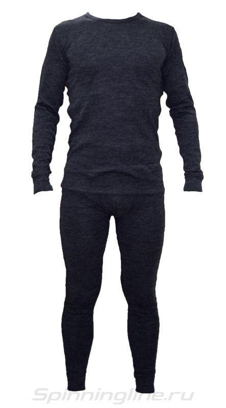 """Термобелье U202  Merino wool (комплект) серый, """"холодно - очень холодно, до -30°C"""", состав: внешний слой 100% шерсть мериноса, внутренний слой 100% полипропилен,размер S."""